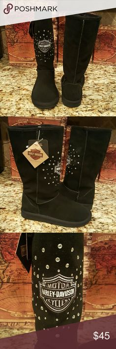 Woman Boot Bkack Harley-Davidson Shoes Combat & Moto Boots