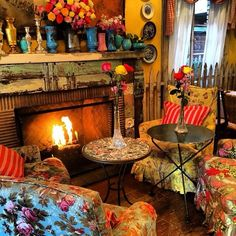 Vintage Boho Bohemian Home Decor Interior Design and Hippy Fashion from Ruby Lane www.rubylane.com @rubyalnceom