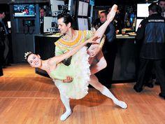 Tiler Peck and Robert Fairchild from The New York City Ballet