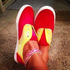 DIY Iowa state shoes