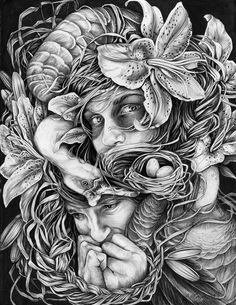Christina Mrozik is an artist from Michigan who creates natural illustrations with an insane amount of detail. Illustrations, Illustration Art, Pencil Drawings, Art Drawings, Realistic Drawings, Artist Bio, Arte Horror, Perfect World, Colouring Pages