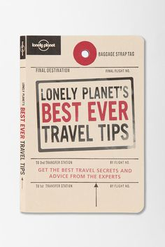 Lonely Planet's Best Ever Travel Tips By Tom Hall  #UrbanOutfitters