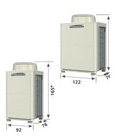 Mitsubishi 3 Ton (3) Zone Heat Pump outdoor unit