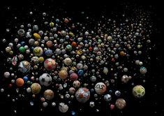 'PENALTY - The World' <br> <br>769 marine debris footballs (and pieces of) <br>collected from 41 countries and islands around the world, from 144 different beachesand by 89 members of the public in just 4 months.