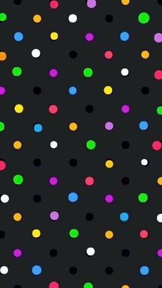 Color dots on black wallpaper iphone 6 wallpaper, pretty phone wallpaper, wallpaper size, Glitter Wallpaper Iphone, Pretty Phone Wallpaper, Phone Wallpaper Images, Wallpaper Size, Mobile Wallpaper, Pattern Wallpaper, Wallpaper Backgrounds, Phone Wallpapers, Graffiti Kunst