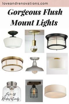 It's so hard to find stylish and streamlined ceiling lights that aren't boob lights! Here are a few gorgeous flush mount lights that won't break the bank and will look awesome in any space.
