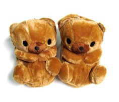 Cute Brown Bear Plush Slipper (9.5 inches) « Shoe Adds for your Closet