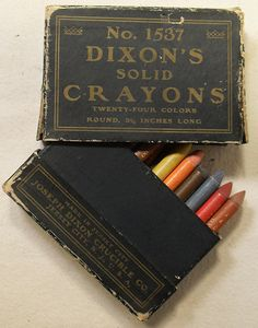 antique Dixon solid crayons