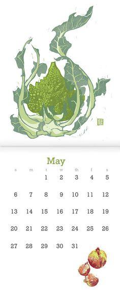 2012 Block Print Wall Calendar