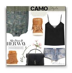 """""""Commando"""" by sherieme ❤ liked on Polyvore featuring Yves Saint Laurent and The Kooples"""
