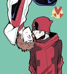 Resultado de imagen para spiderman x deadpool
