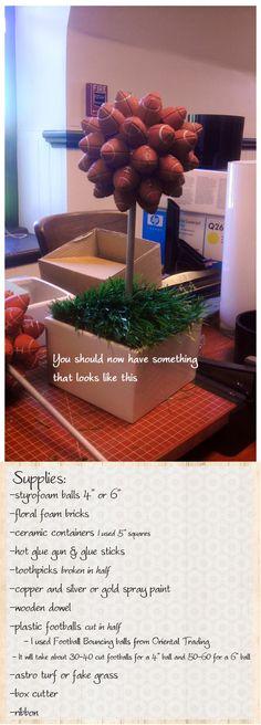 DIY football topiary