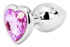 Handsome Cock Small Lilac Heart Jewelled Butt Plug, £9.99