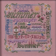 Just Nan - JN263 Summer Typography • Counted Thread Cross Stitch Designs from Just Nan