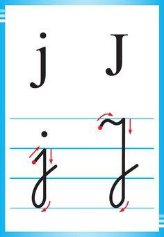 Alfabet polski, pisany dla dzieci do druku 19 English Language, Montessori, Hand Lettering, Activities For Kids, Alphabet, Classroom, Education, School, Improve Handwriting