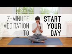 Use this 7 Min Meditation to set a positive intention for the course of your day. This all levels mindful meditation is designed to help you gather yourself, connect to what feels good and bring [. Morning Meditation, Healing Meditation, Daily Meditation, Meditation Practices, Morning Yoga, Mindfulness Meditation, Meditation Space, Meditation Meaning, Night Yoga