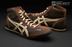 Onitsuka Tiger Mexico Midrunner DX LE - Chocolate Brown / Cuban Sand Mens Boots Fashion, Sneakers Fashion, Fashion Shoes, New Shoes, Men's Shoes, Onitsuka Tiger Mens, Sneaker Bar, Outdoor Wear, Shoe Company
