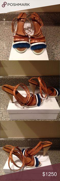 Fendi Mink Fendi strap sandals Fendi Shoes Sandals