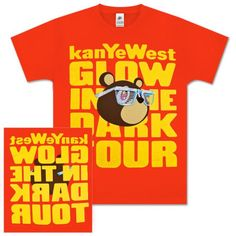 Kanye West Red Glow Bear Tee