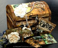 Wow - what an incredible layering of items.  The old, vintage feel of it is delicious!!