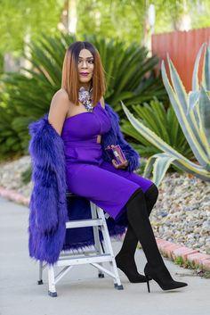 Monochrome Purple Look