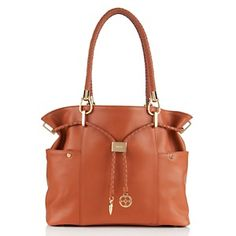 IMAN Platinum Collection Luxe Leather Braided Drawstring Hobo at HSN.com.