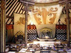 Inside the King's Palace yurt