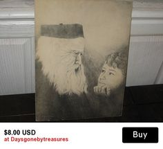 Picture of Wise Old Man and Little Boy Print. By Linda Odell