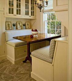 love a cozy kitchen nook!!