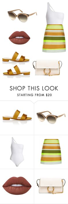 """""""Untitled #774"""" by mandiexoxo1 ❤ liked on Polyvore featuring Barneys New York, Tom Ford, Jade Swim, Jaeger, Lime Crime and Chloé"""