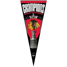 "Chicago Blackhawks 12"" x 30"" 2010 NHL Stanley Cup Champions Vertical Premium Felt Pennant () by Football Fanatics. $29.99. Fly your Blackhawks team colors proudly with this 2010 NHL Stanley Cup Champions old school felt pennant featuring team logo and 2010 Stanley Cup graphics!Team logo and colorsHigh quality graphicsGenuine wool feltOfficially licensed NHL product"