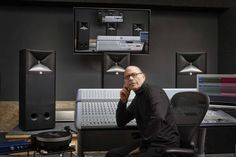 Noted audio engineer for The Doors, Bruce Botnick, relies on three JBL Master Reference Monitors in his studio. Audio Engineer, Loudspeaker, Engineering, Technology, Studio, Doors, Design, Outfits, Tall Clothing