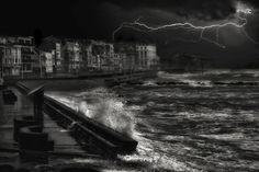 Dark stormy evening in Normandy by Yvette Depaepe