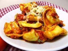 tortellini mit tomatensosse und kaese   http://applethree.de/