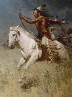 Native American Indian on Horse by-Canvas Print Painting Drawing Photo Art Native American Paintings, Native American Pictures, Indian Paintings, Native American Warrior, Native American History, Native Indian, Native Art, American Indian Art, American Indians