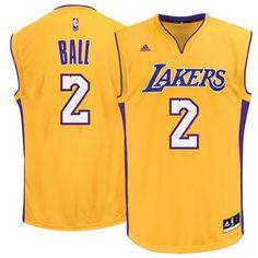 adidas Lonzo Ball Los Angeles Lakers Gold 2017 NBA Jersey #lakers #nba #lalakers