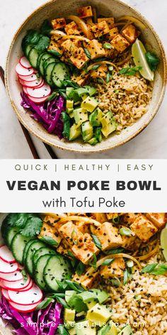 Vegan Bowl Recipes, Vegan Dinner Recipes, Vegan Dinners, Veggie Recipes, Whole Food Recipes, Vegetarian Recipes, Cooking Recipes, Healthy Recipes, Veggie Bowl Recipe