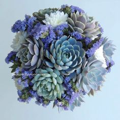 Wedding bouquet, Succulent bridal bouquet by SucculentlyUrban on Etsy https://www.etsy.com/listing/199953356/wedding-bouquet-succulent-bridal-bouquet