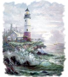 LightHouse Cove  T - SHIRT  ( Sweatshirt, Quilt Fabric Block, Tote Bag, Apron, Available On Request) #747g by AlwaysInStitchesCo on Etsy