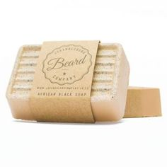 African Black Natural Clay and Coconut Oil Beard Soap