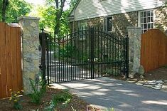 driveway gate with fence