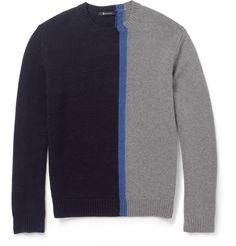 Alexander Wang - Panelled Merino Wool-Blend Sweater | MR PORTER