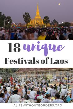 18 unique festivals of Laos. From the epic water fights of Lao Pi Mai to incredible rocket festivals dont miss these colourful Laos festivals Travel Vacation List Holiday Tour Trip Destinations Laos Travel, China Travel, Japan Travel, Usa Travel, Luang Prabang, Festivals Around The World, Travel Around The World, Travel Guides, Travel Tips