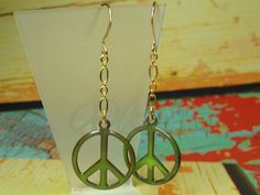 Peace Sign Earrings by joolrylane on Etsy, $25.00