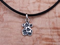 950 Sterling Silver Bear with Leather by UrpiPeruvianMarket