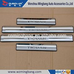 High quality Exterior Accessories stainless steel Car inner/Exterior door sill strip pedal plate LED For Volks-wagen Tiguan 2010