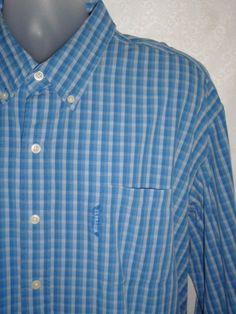 U.S. POLO ASSN Mens Dress Shirt Blue Striped Long Sleeve XXL #USPoloAssn #ButtonFront