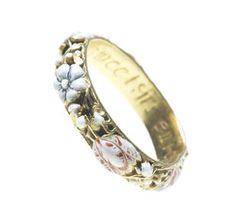 17th century enamel and posy ring