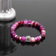 Mala Bead Yoga Bracelet With Paw Print Bracelets For Men, Fashion Bracelets, Beaded Bracelets, Yoga Bracelet, Stone Bracelet, Girl And Dog, Christmas Gifts For Women, Stone Beads, Bracelet Making
