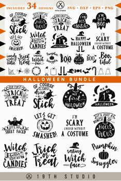 One of hundreds of craft files in The Fall crafting Bundle Halloween crafting graphics and fonts on sale now. These graphics are perfect templates for last minute Halloween printables, t-shirts for the kids, and Holiday cutting machine projects. Halloween Quotes, Halloween Signs, Halloween Projects, Halloween Fun, Halloween Shirts Kids, Silhouette Fonts, Silhouette Projects, Silhouette Design, Silhouette Cameo